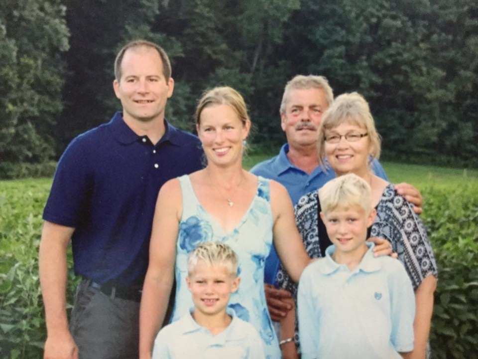 Jason Schaffner, Heather Secrist and two sons Ashlan & Ethan Smith. Heather's parents, Bob & Barb Secrist.
